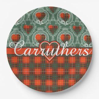 Carruthersの一族の格子縞のスコットランドのキルトのタータンチェック ペーパープレート