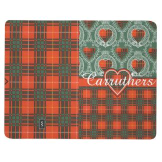 Carruthersの一族の格子縞のスコットランドのキルトのタータンチェック ポケットジャーナル