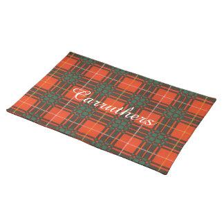Carruthersの一族の格子縞のスコットランドのキルトのタータンチェック ランチョンマット