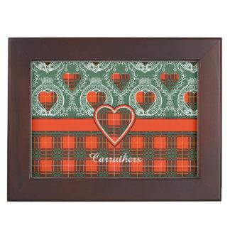 Carruthersの一族の格子縞のスコットランドのキルトのタータンチェック 宝箱