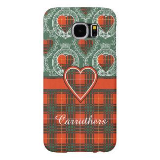 Carruthersの一族の格子縞のスコットランドのキルトのタータンチェック Samsung Galaxy S6 ケース