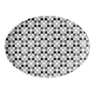 Carta/33 cm X 23.5 cmの磁器のクーペの大皿 磁器大皿