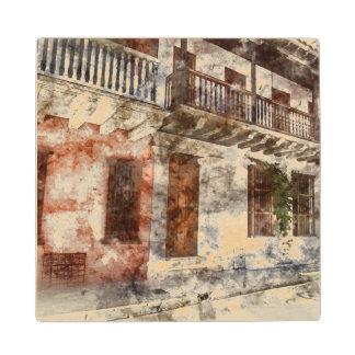 Cartagenコロンビアののオリジナルのアートワーク ウッドコースター