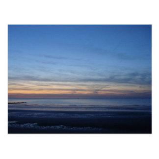Carte postale mer du Nord, coucher du soleil ポストカード