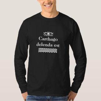 Carthagoのdelenda米国東部標準時刻 Tシャツ