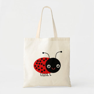 Cartoon Ladybug, also known as Ladybird トートバッグ