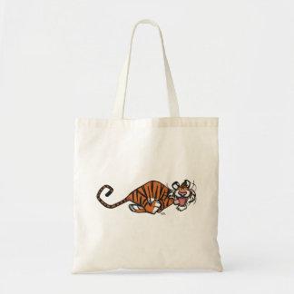 Cartoon Running Tiger トートバッグ