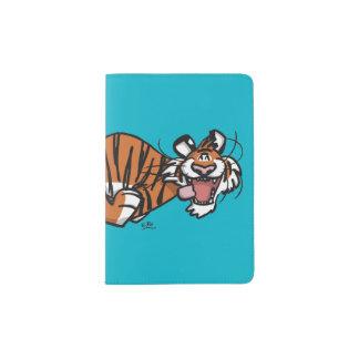 Cartoon Running Tiger パスポートカバー