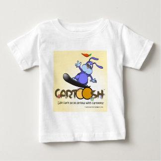 CartooshのスノーボードでgiggleBunny ベビーTシャツ