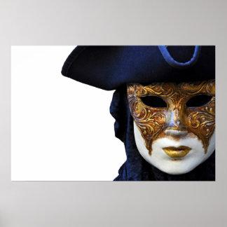 Casanovaの劇場のベニスのマスクポスター ポスター