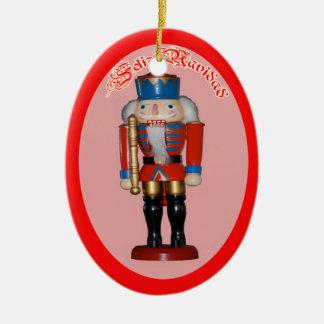 Cascanueces Rojo Adorno Navidad セラミックオーナメント