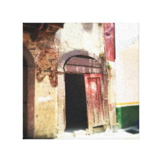 Casco Viejoのドア、パナマ市、パナマ キャンバスプリント