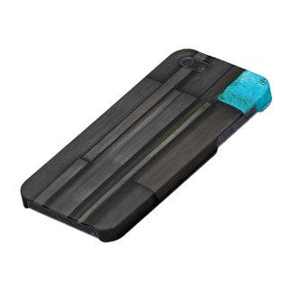 CaseMatter™ WoodenBlueの光沢のある終わり iPhone 5 ケース
