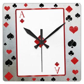 Casino/vegas style clock スクエア壁時計