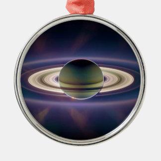 Cassiniの宇宙船からの土星の日食 メタルオーナメント