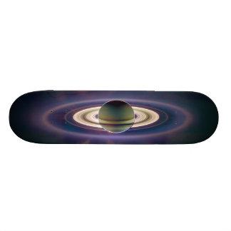 Cassiniの宇宙船からの土星の日食 19.7cm スケートボードデッキ