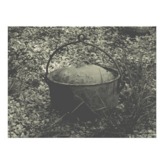 cast iron farm pot フォトプリント