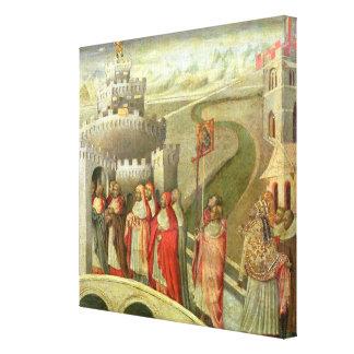 Castel St.アンジェロへのSt Gregoryの行列 キャンバスプリント