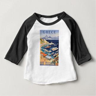 Castella旅行ポスターの1955年のギリシャアテネ湾 ベビーTシャツ