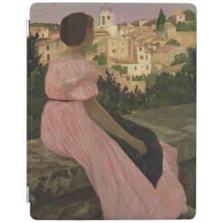 Castelnau leLezのピンクの服、か眺め iPadスマートカバー