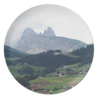 Castelrottoからの眺め プレート