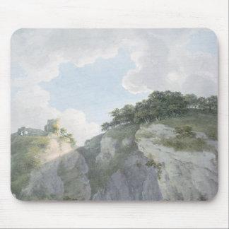 Casteltonの城そして洞窟の眺め マウスパッド