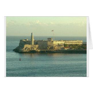 Castill del Morro La Habanaキューバ グリーティングカード