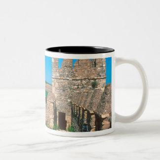 Castillo de Las Aguzaderasはaの城です ツートーンマグカップ