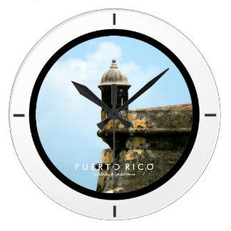 Castillo San Felipe del Morro、プエルトリコ ラージ壁時計