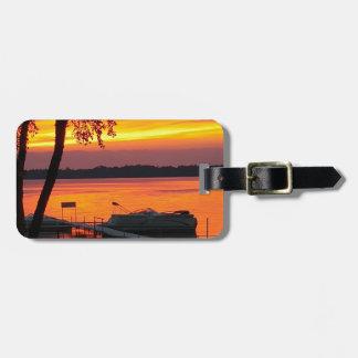 castlerock湖上の日没 ラゲッジタグ