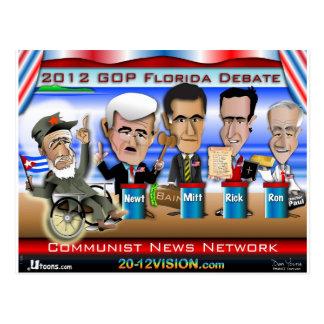 Castroフロリダの討論 ポストカード