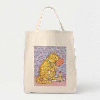 CATおよび口紅 トートバッグ