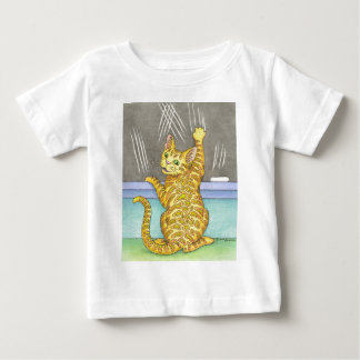 CATおよび黒板 ベビーTシャツ