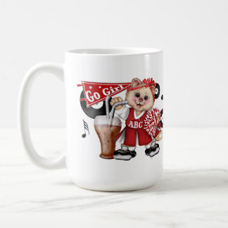 CATのチアリーダーのかわいいおもしろいのクラシックのマグ コーヒーマグカップ