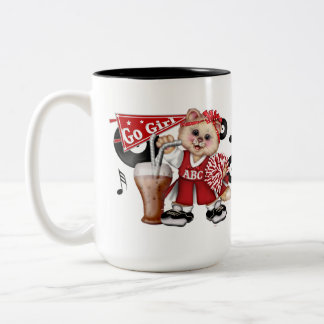CATのチアリーダーのかわいいおもしろいのツートーンマグ ツートーンマグカップ