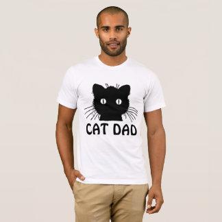CATのパパ、黒猫のTシャツ Tシャツ