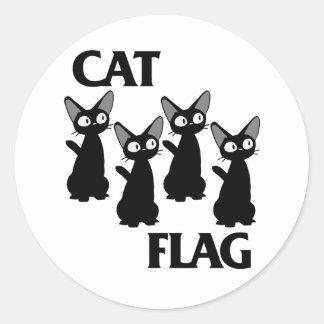 CATの旗2 ラウンドシール