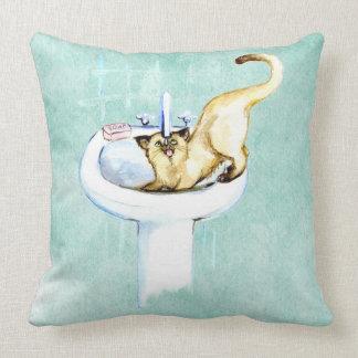 CATの枕。 浴室のCATの飲料水 クッション