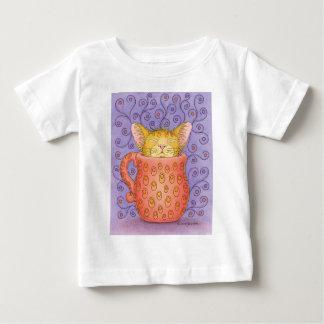CATはマグで眠ります ベビーTシャツ