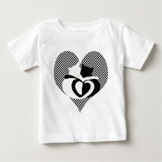 CAT尾-愛白黒 ベビーTシャツ