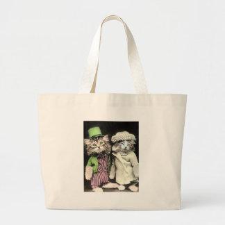 Cat氏および夫人 ラージトートバッグ