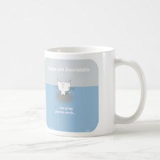 CAT001の不可解なロジャー猫、不透明 コーヒーマグカップ