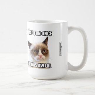 """Cat™の気難しいマグ- """"私は楽しい時を一度過しました。 それはひどかったです。"""" コーヒーマグカップ"""