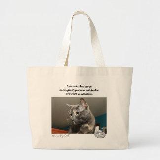Cat™著俳句: 塵 ラージトートバッグ
