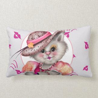 """CAT 2夫人の装飾用クッションの腰神経の枕13"""" x 21 """" ランバークッション"""