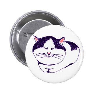 CAT 5.7CM 丸型バッジ