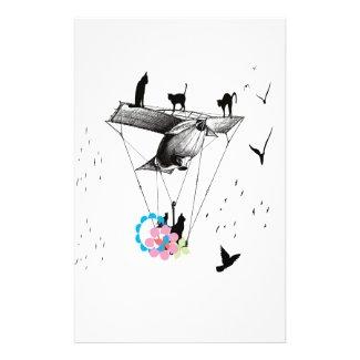 ネコと飛行機 オリジナルレター用品