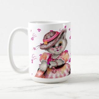 CAT CARTOON夫人15のozのクラシックで白いマグ コーヒーマグカップ