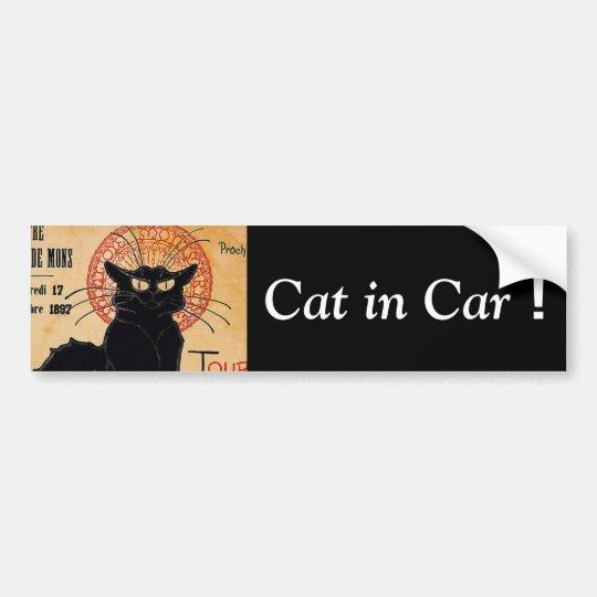 Cat in Car ! バンパーステッカー
