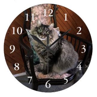 Cat Kimber Numbered王の柱時計 ラージ壁時計
